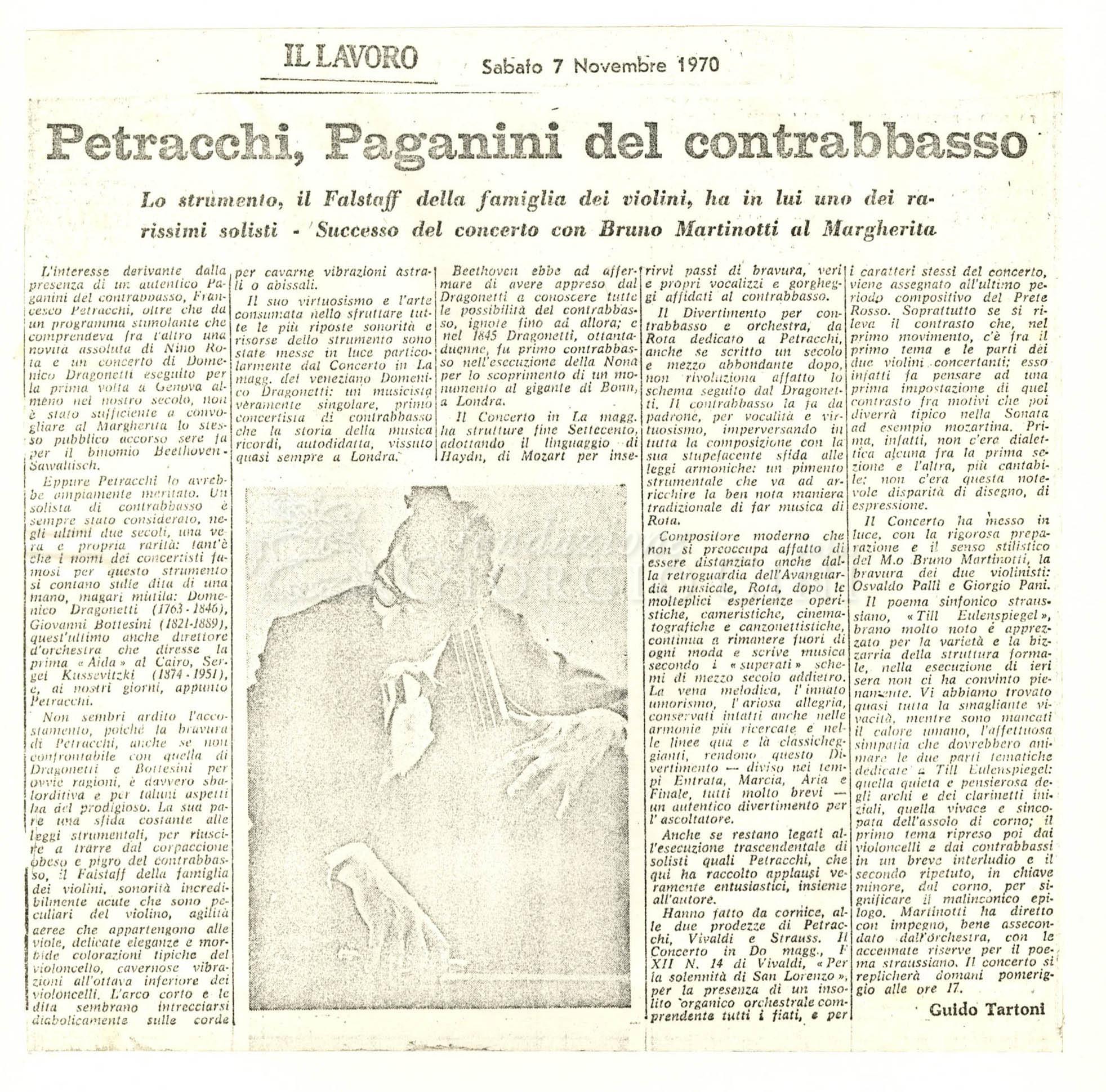 Petracchi, Paganini del contrabbasso  07 novembre 1970