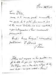 Nino [Rota] a Titina [Rota], Roma 24 marzo 1959