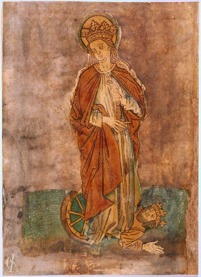 Santa Caterina d'Alessandria calpesta l'imperatore Massenzio