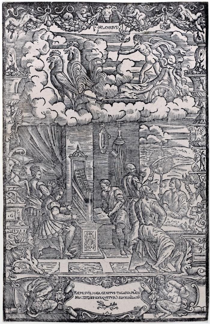Mercurio sul carro e i suoi 'figli'