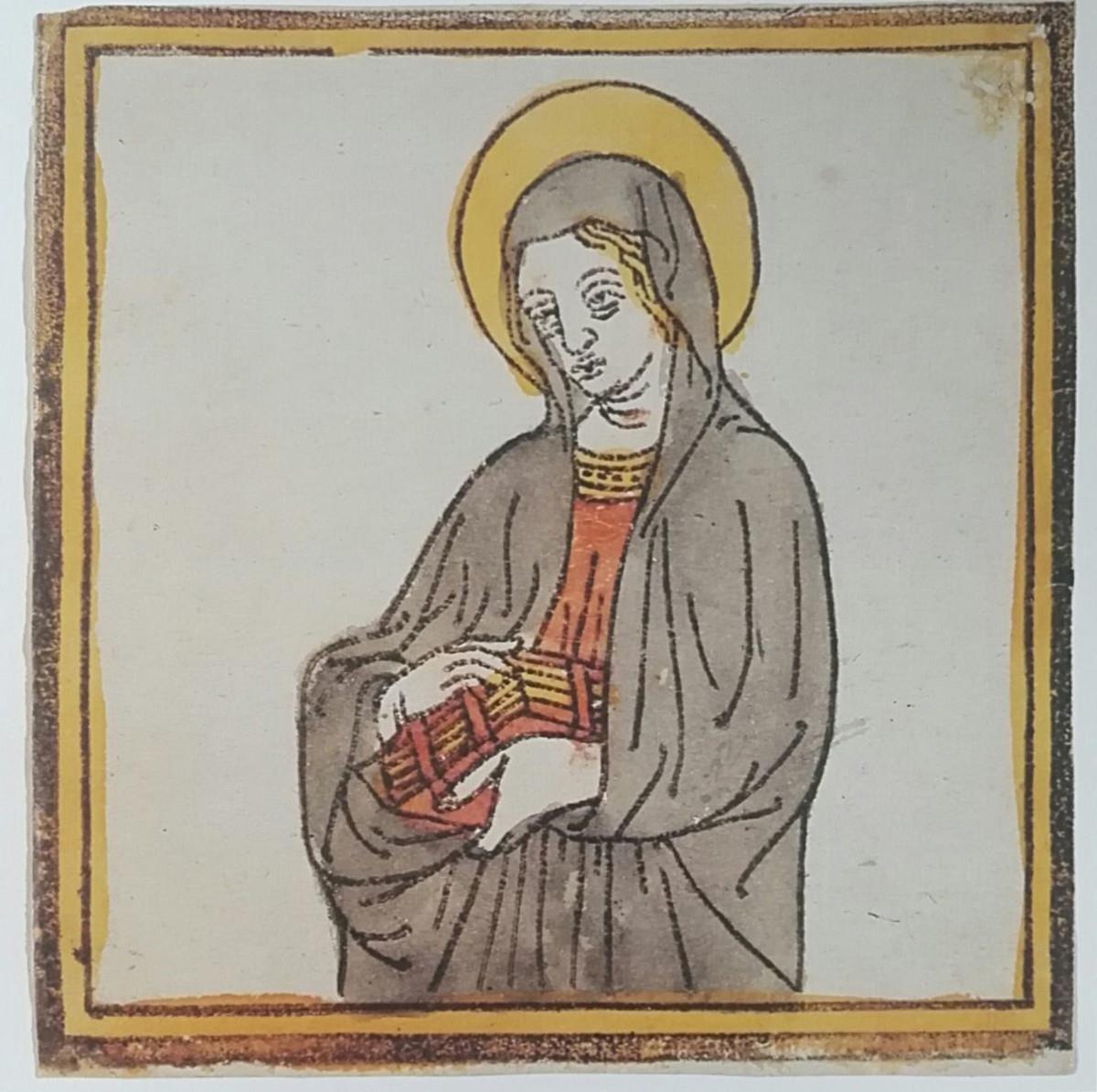 Santa con libro in mano o Vergine Annunciata