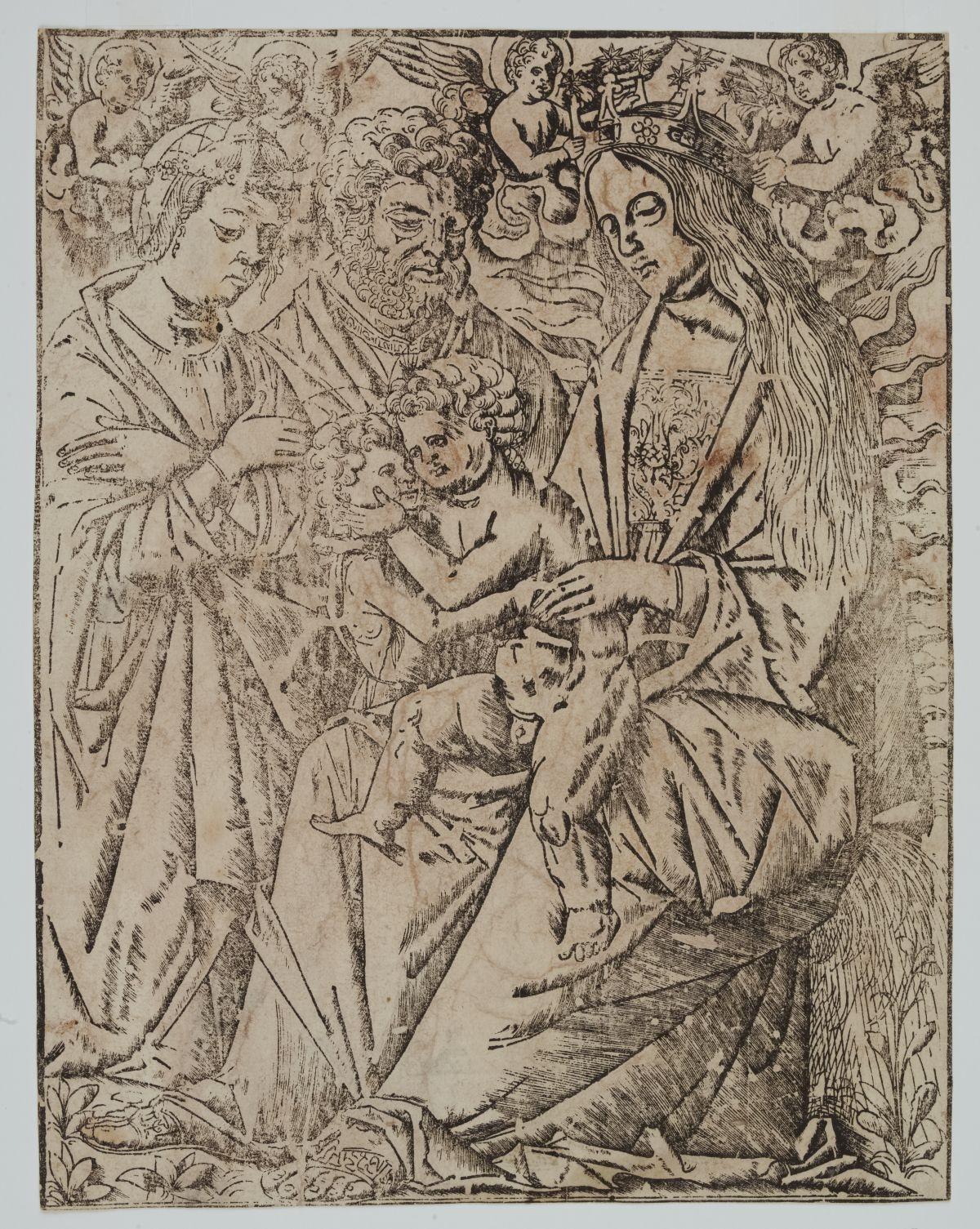 Sacra Famiglia con Gesù Bambino S. Caterina e S. Giovannino