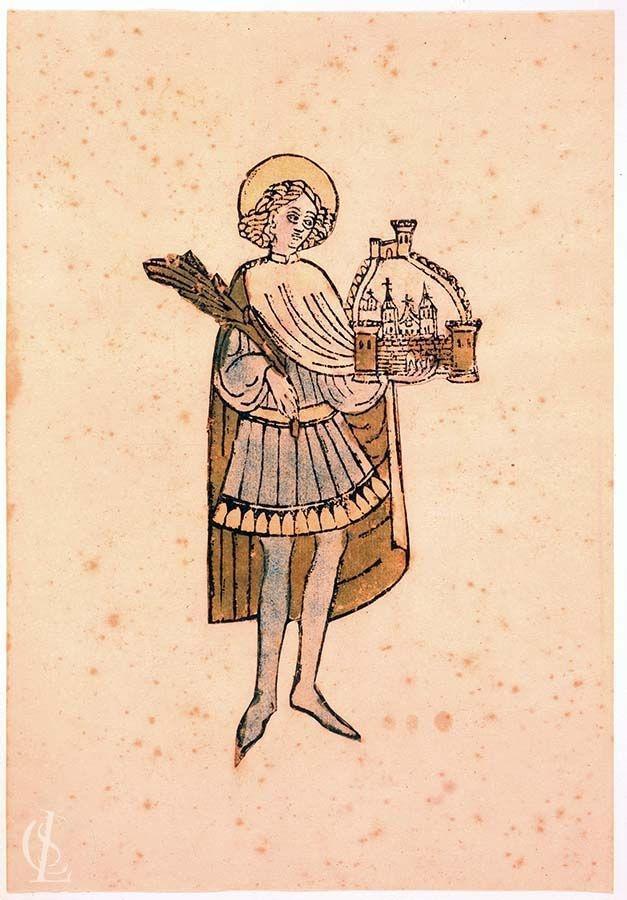 San Trifone che tiene la palma del martirio e il modello della città di Cattaro