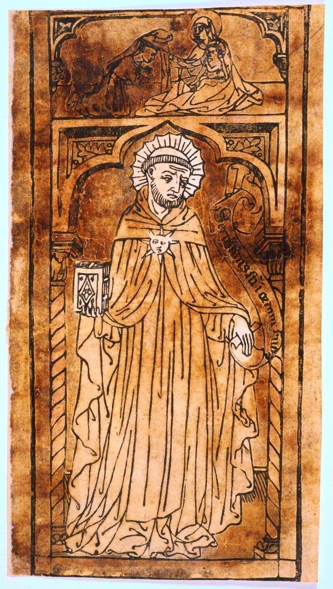 San Filippo Benizi e, nella lunetta sopra l'edicola, la Vergine che gli consegna l'abito e il Bambino benedicente