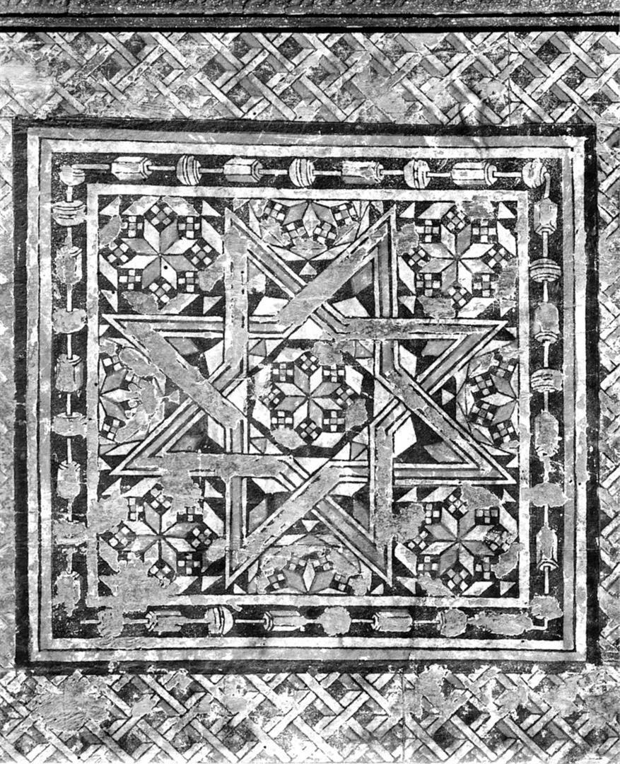 Decorazione geometrica a stella a otto punte