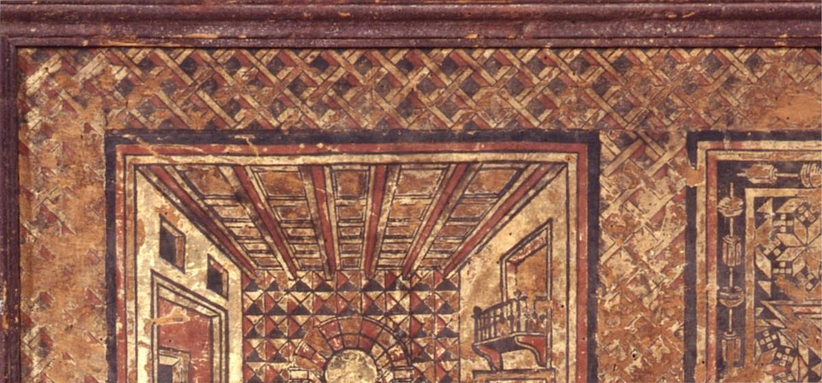Cornice decorativa geometrica prospettica