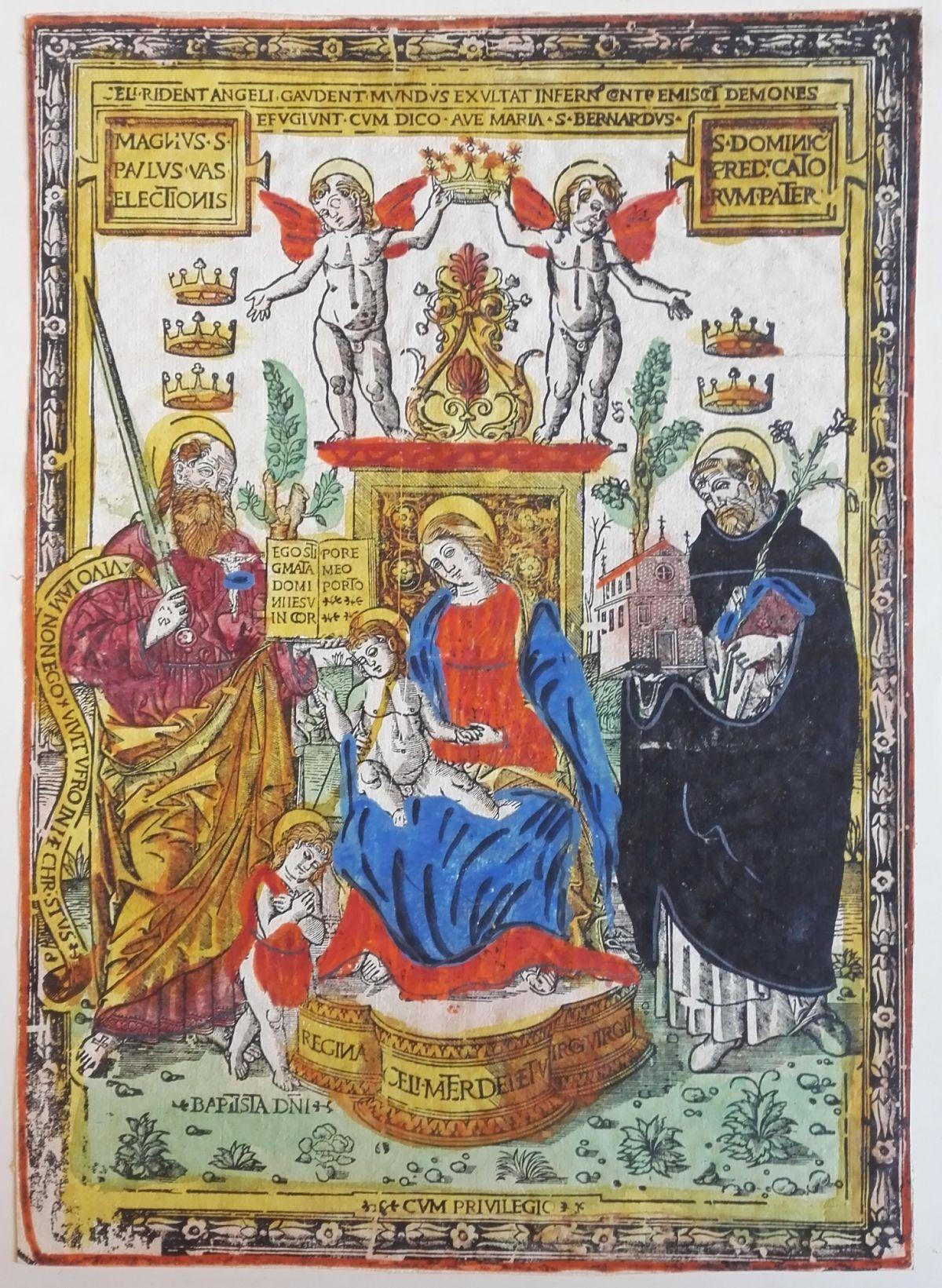 Madonna col Bambino in trono tra San Giovannino, San Paolo e San Domenico
