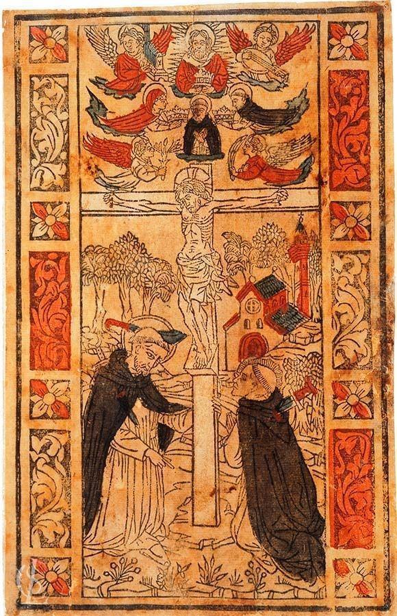 Cristo crocifisso con San Pietro Martire e frate Domenico