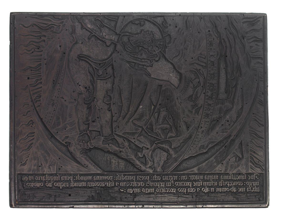 Metà inferiore di Madonna con il Bambino sulla luna crescente, con in mano il globo terracqueo