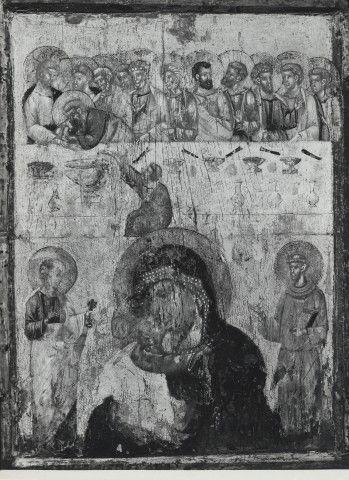 Madonna che allatta il Bambino con quattro Santi, Annunciazione e Ultima Cena
