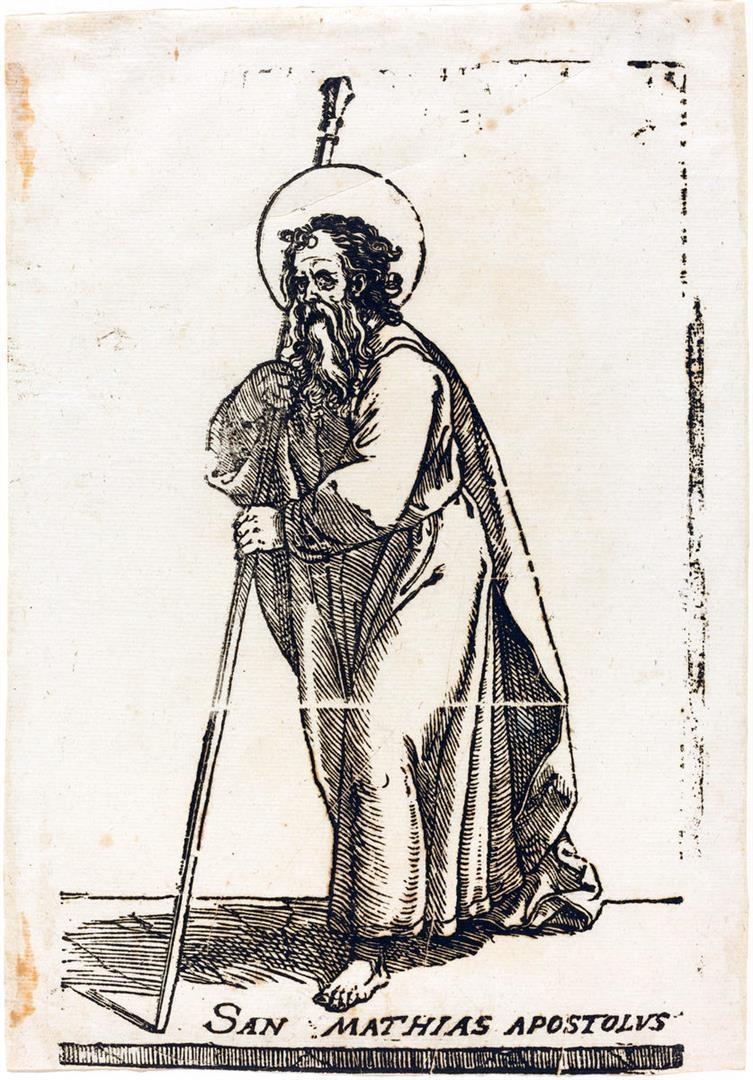 Cristo e i dodici Apostoli: San Mattia