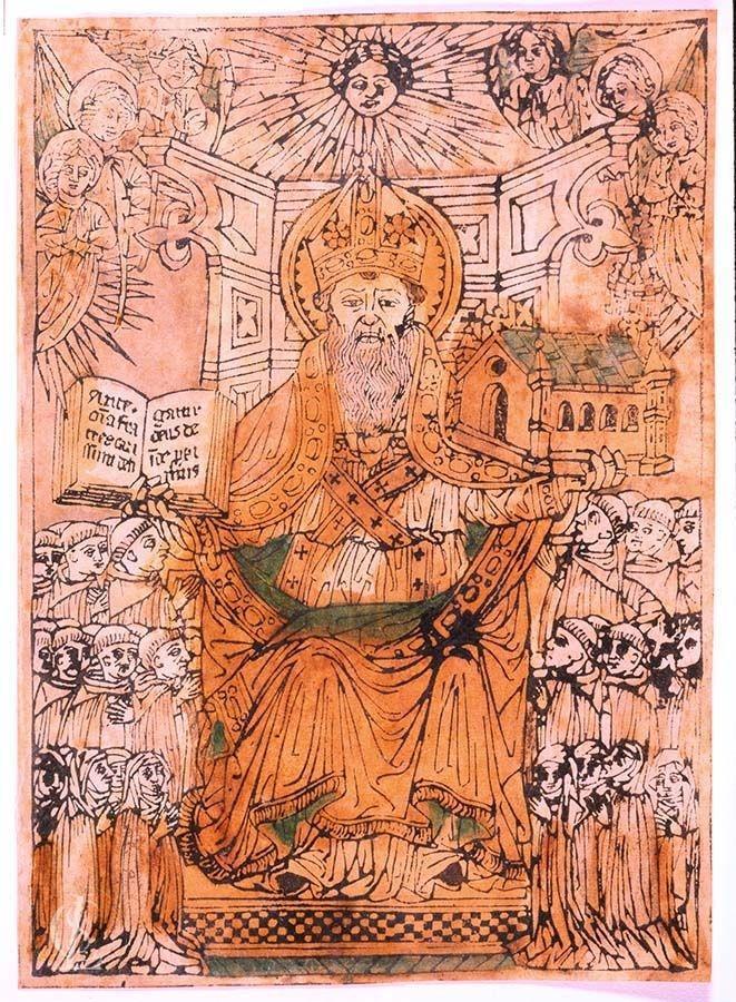 Sant'Agostino consegna la regola all'ordine dei frati predicatori