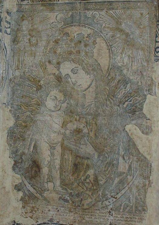Madonna in gloria con Bambino, globo, su luna crescente