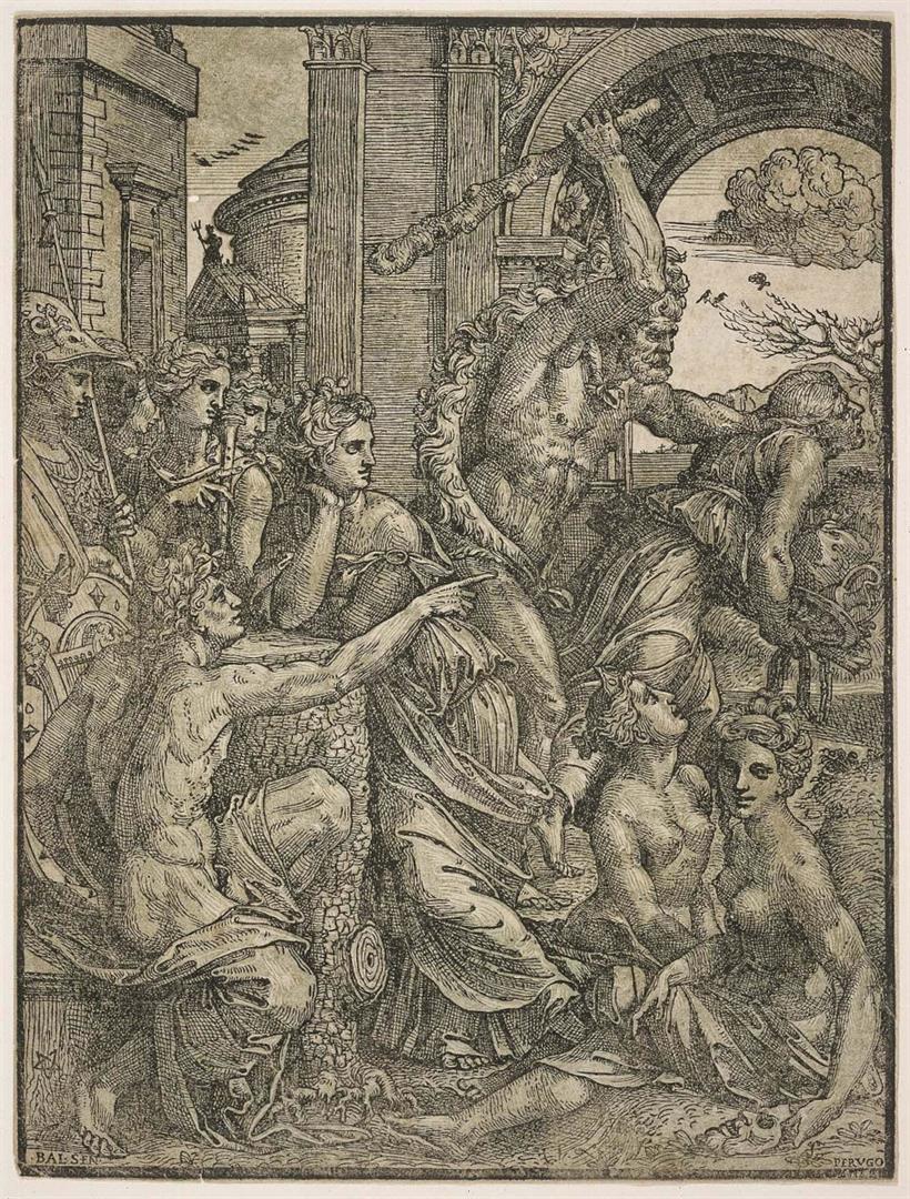 Ercole scaccia l'Avarizia dal tempio delle Muse (Versione A)