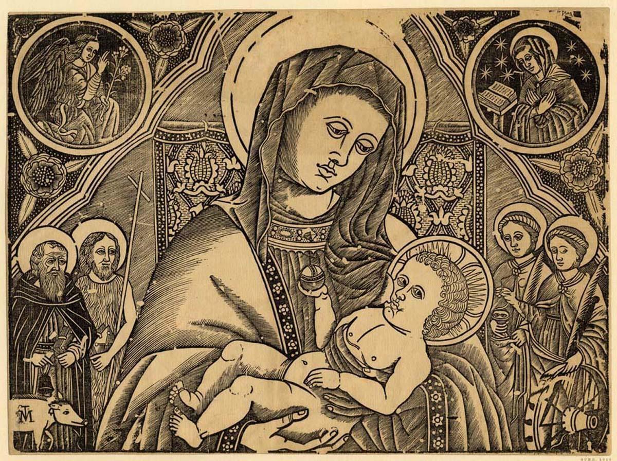 La Madonna col Bambino e quattro Santi (Sant'Antonio abate, San Giovanni Battista, Santa Lucia e Santa Caterina)