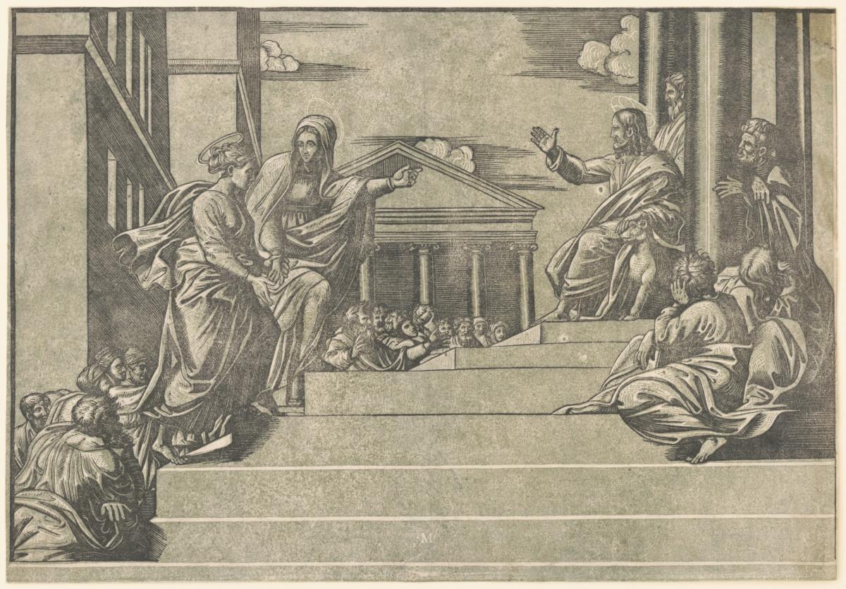 Marta conduce Maria Maddalena da Cristo