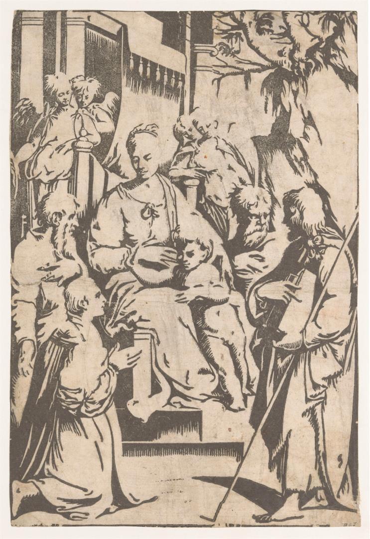 Madonna in trono, Santi e donatore