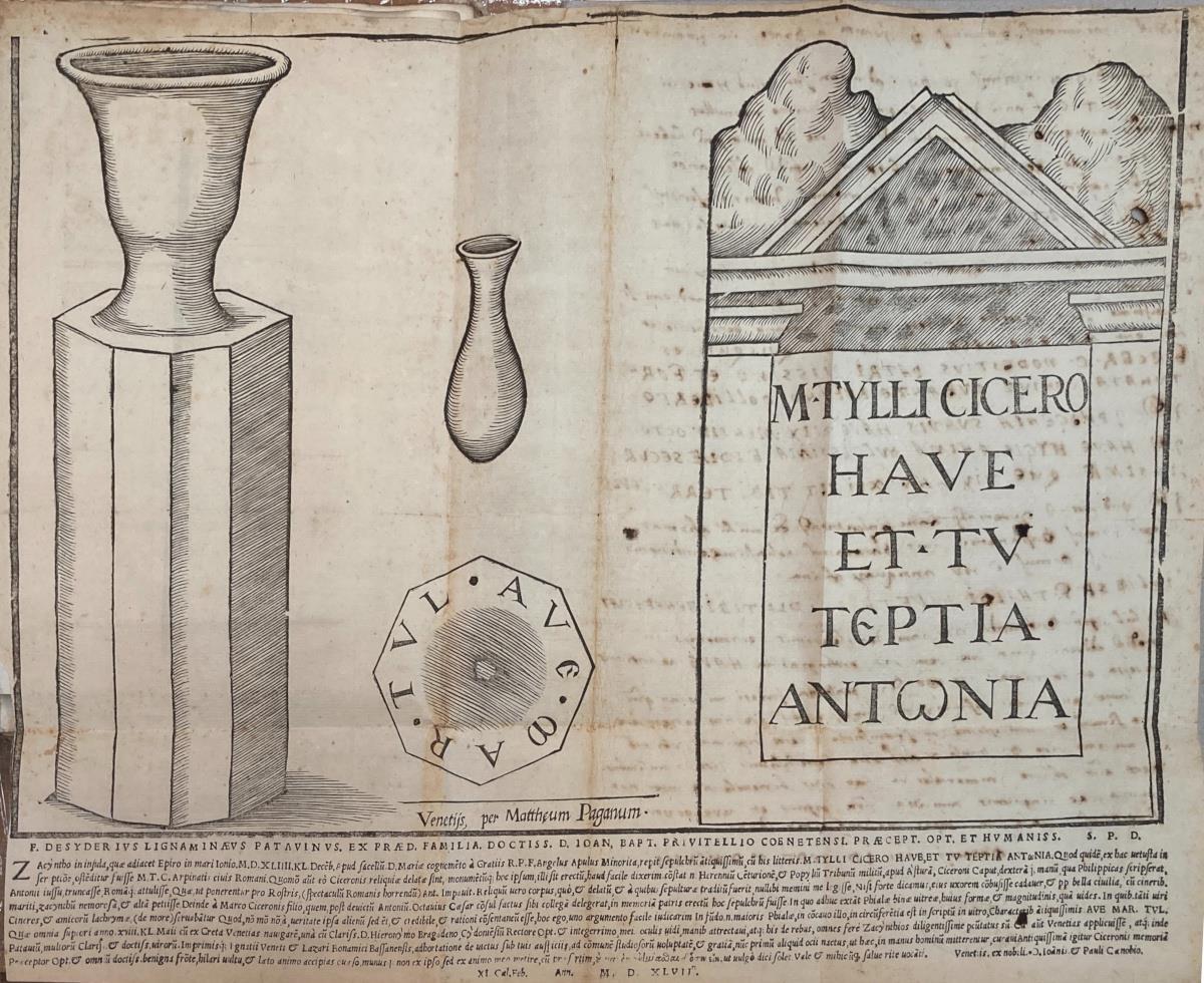 F. Desiderius Lignaminaeus Patauinus ex praed. familia doctiss. d. Ioan. Bapt. Priuitellio Coenetensi praecept. opt. et humaniss. s.p.d