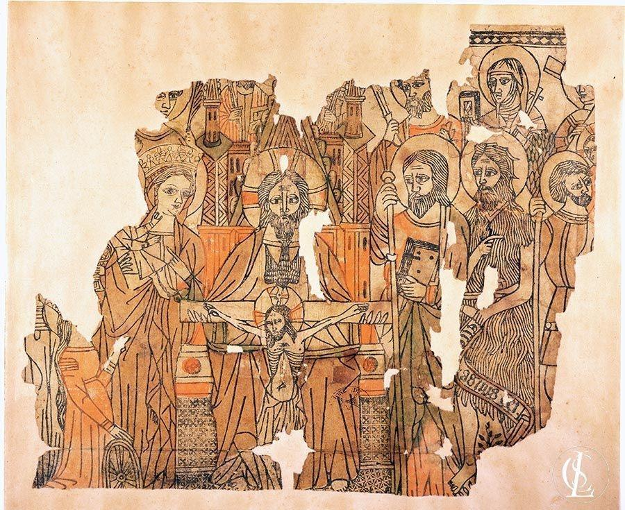 La Trinità, la Madonna col Bambino e i santi Elisabetta d'Ungheria, Caterina D'Alessandria, Lorenzo, Paolo, Pietro, Bartolomeo, Chiara, Cristoforo, Giovanni, Giacomo