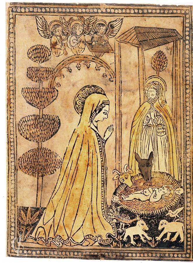 Natività di Gesù con angeli cantori