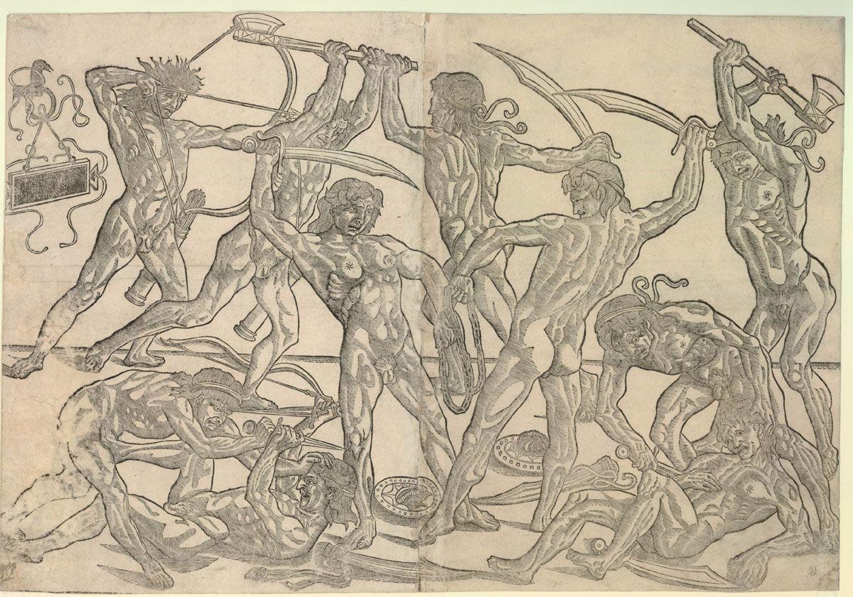 Combattimento tra uomini nudi