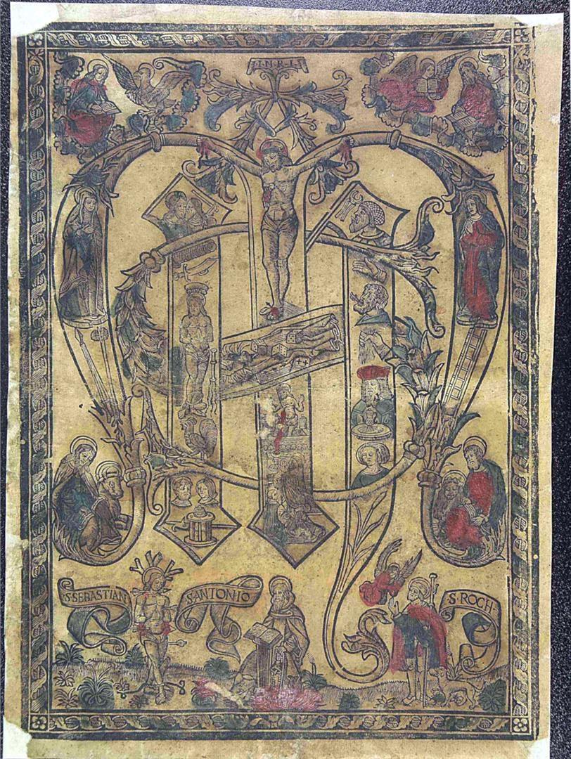 Monogramma dei nomi di Gesù e di Maria e Arma Christi