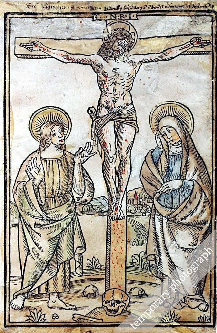 CROCIFISSIONE DI CRISTO CON LA MADONNA E SAN GIOVANNI EVANGELISTA