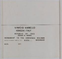 Cartiglio per disegni Monumento al milite ignoto, Bagdad