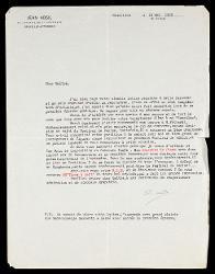 Lettera di Jean Absil a Alfredo Casella, Bruxelles 19 maggio 1938