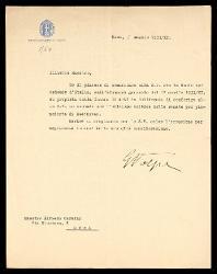Lettera di G. Volpe a Alfredo Casella, Roma 05 maggio 1933