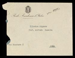Lettera di [Antonio] Bruers a Alfredo Casella, Roma 10 giugno 1935