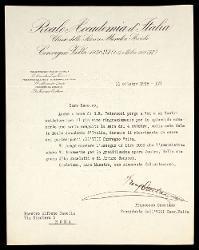 Lettera di Francesco Orestano a Alfredo Casella, [Roma] 11 ottobre 1938
