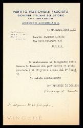 Lettera di Vincenzo Di Donato a Alfredo Casella, Roma 09 marzo 1942