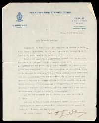 Lettera di Guido Boni a Alfredo Casella, Roma 06 novembre 1923
