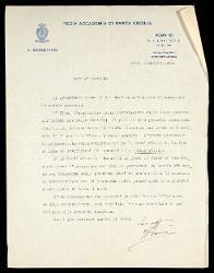 Lettera di G[uido] Boni a Alfredo Casella, Roma 03 maggio 1924