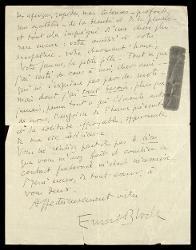 Lettera di Ernest Bloch a Alfredo Casella, Roveredo Capriasca (Ticino) 06 febbraio 1932