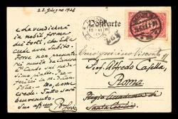 Cartolina postale di Ferruccio Busoni a Alfredo Casella, Berlino 22 giugno 1923
