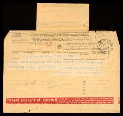 Telegramma di Guido Chigi Saracini a Alfredo Casella, Siena 17 settembre 1942