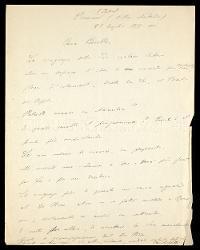 Lettera di Carlo Gatti a Alfredo Casella, Premeno 23 luglio 1935