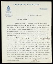 Lettera di Bernardino Molinari a Alfredo Casella, Roma 16 luglio 1935