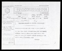 Marconigramma di Alfredo Casella a Elizabeth Sprague Coolidge, Roma 08 maggio 1933