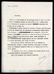 Lettera di Alfredo Casella a Gabriele D'Annunzio, Roma 12 ottobre 1923