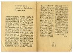 La cantata sacra 'Misterium Catholicum' di Nino Rota  settembre 1962