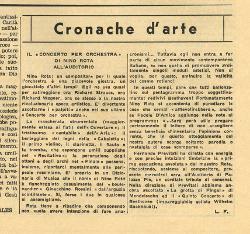 Il 'Concerto per orchestra' di Nino Rota all'Auditorio  01 dicembre 1962