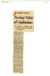 Pierluigi Urbini all''Auditorium'  : Il pubblico ha applaudito anche Nino Rota, autore di uno dei pezzi in programma s.d.