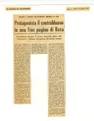 Protagonista il contrabbasso in una fine pagina di Rota  10 giugno 1972