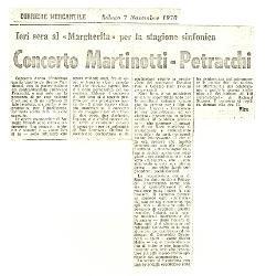 Concerto Martinotti-Petracchi  07 novembre 1970