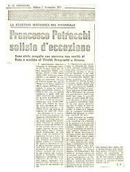 Francesco Petracchi solista d'eccezione  : Sono state eseguite con successo una novità di Rota e musiche di Vivaldi, Dragonetti e Strauss 07 novembre 1970
