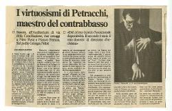 I virtuosismi di Petracchi, maestro del contrabbasso  s.d.