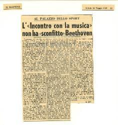 Al Palazzo dello Sport. L' 'Incontro con la musica' non ha 'sconfitto' Beethoven  15 maggio 1971